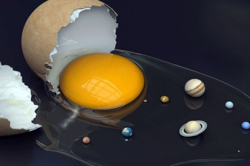 Egg solar system Wallpaper HD