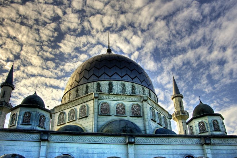 Preview wallpaper islam, mosque, sky, clouds, religion, building, structure,