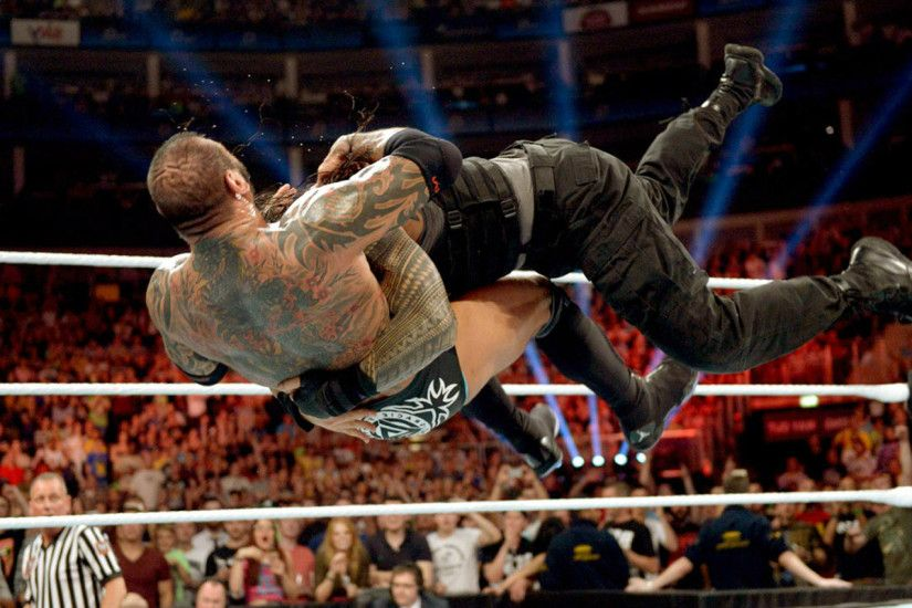 Roman Reigns Best Spear HD Wallpaper