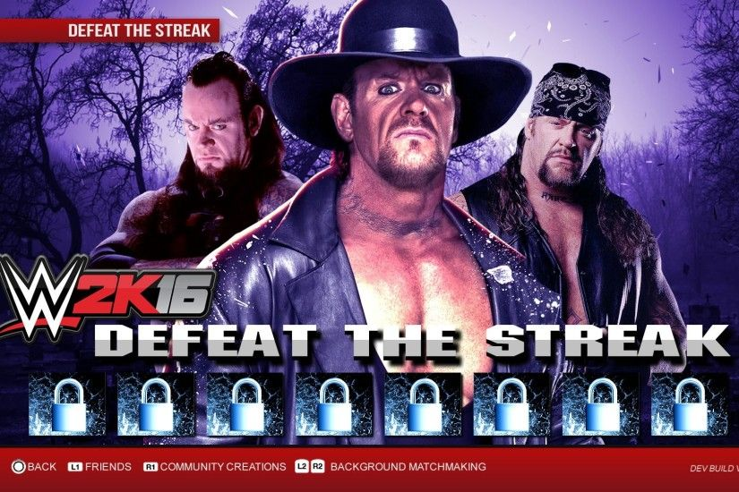 The undefeated streak of The Undertaker was the greatest streak in history  until Brock Lesnar ended it at Wrestlemania A Defeat the streak mode was  last .