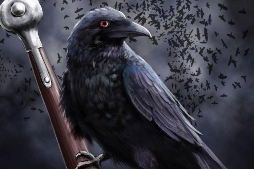 Raven on the sword