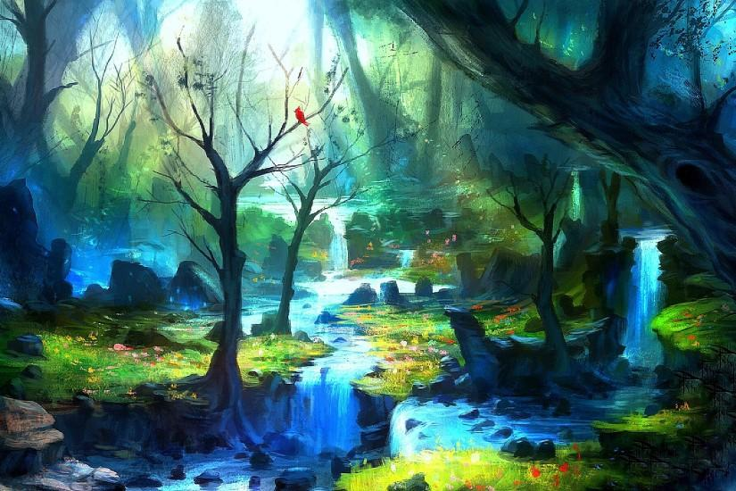 Enchanted Forest Wallpapers Wide Desktop BAckground