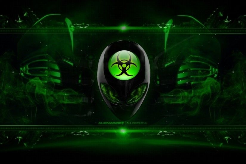 Alienware Desktop Background Radioactive Green 2560x1600