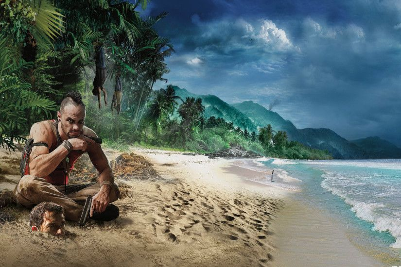 1920x1080 Wallpaper far cry 3, beach, game, graphics, hdr