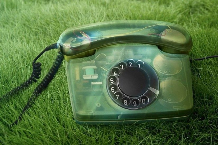 Preview wallpaper phone, old, grass, numbers, handset 1920x1080