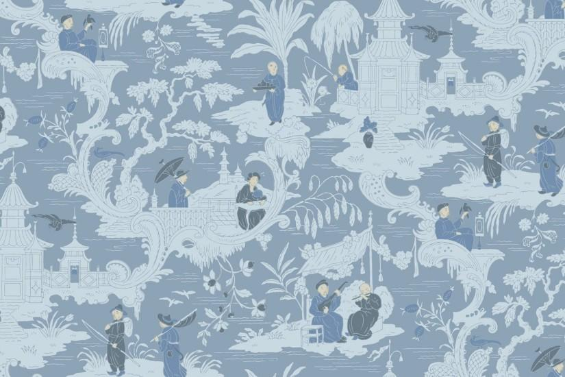 Traditional wallpaper / chinoiserie 100/8038 CHINESE TOILE Cole&Son ...