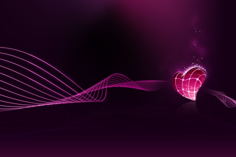 Pretty Heart Abstract Wallpaper Mobile #qP6