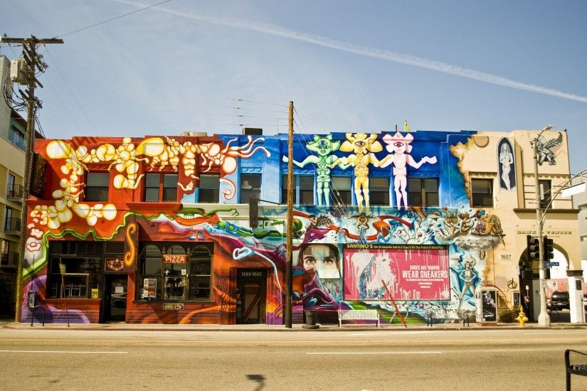 los angeles california pacific buildings graffiti city wallpaper hd  background wallpapers free amazing cool tablet smart phone 4k 2048×1365  Wallpaper HD