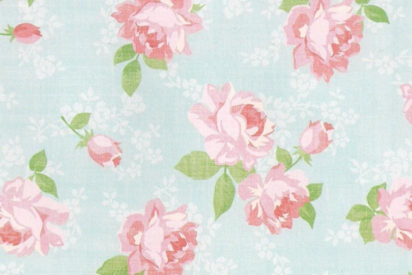 Pink Vintage Floral Wallpapers.