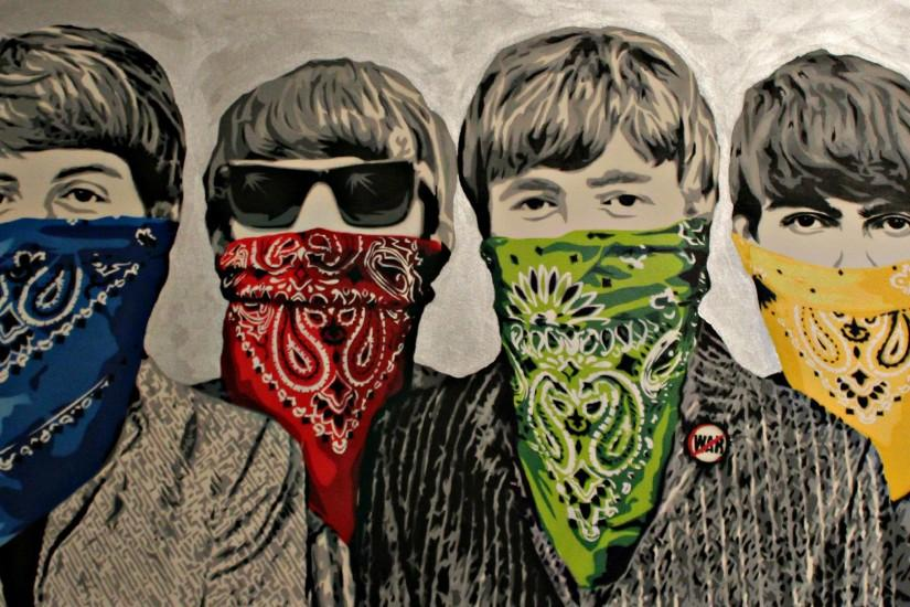 The Beatles Drawing Wallpaper