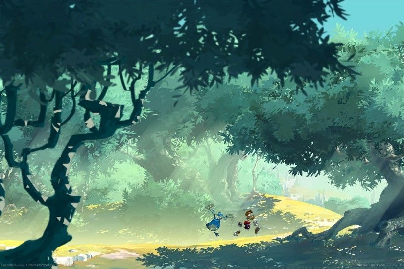 rayman legends game wallpapers game forest tree road