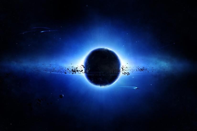 Black And Blue Space Wallpapers | The Art Mad Wallpapers