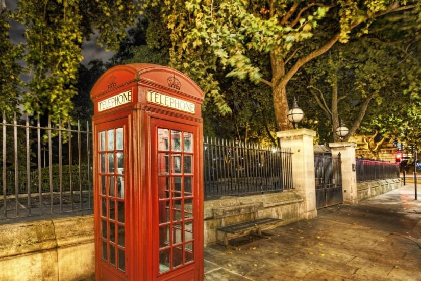 1920x1200 Wallpaper london, city, street, phone booth