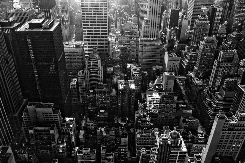 Chicago Black And White Wallpaper Desktop