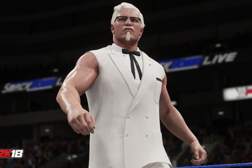 KFC Founder Colonel Sanders debuts in WWE 2K18 ...