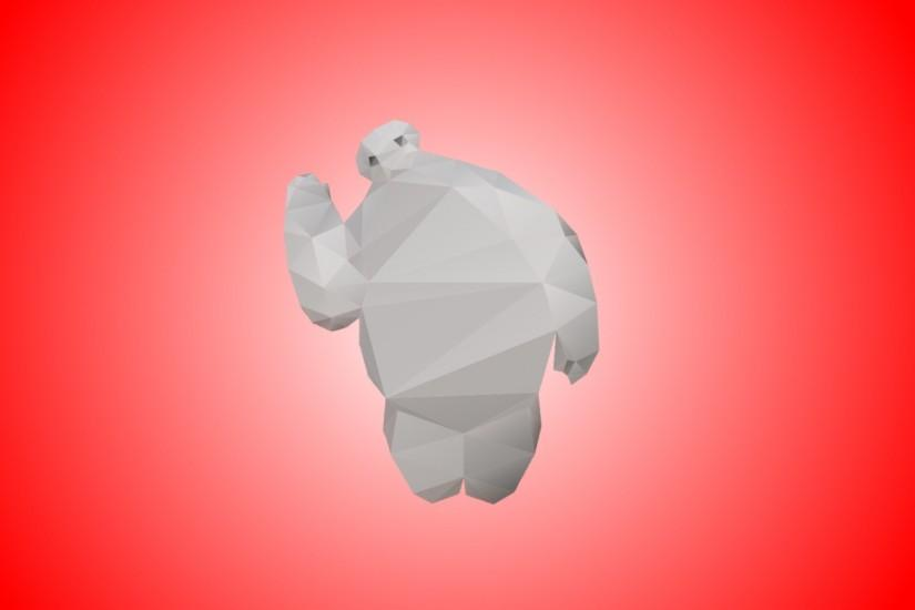 Low Poly Baymax Wallpaper