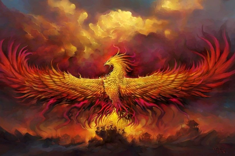 Phoenix Artistic Bird Fire Wallpaper