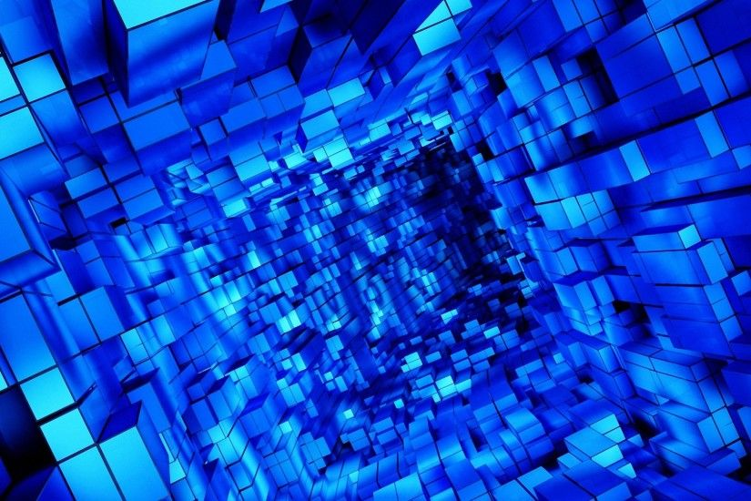 cool abstract blue cube hd wallpapers