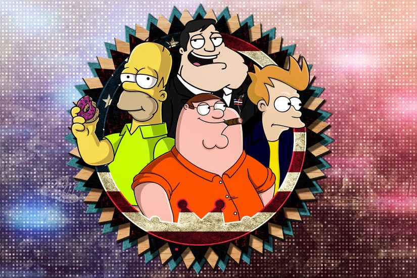 ... American Dad,Futurama,The Simpsons,Family Guy by KENANN827