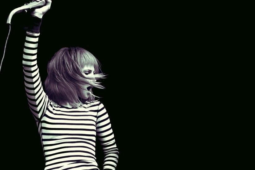 1920x1080 Wallpaper paramore, girl, show, microphone, hair