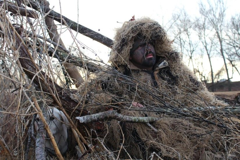 ghillie suit hunter - Google Search