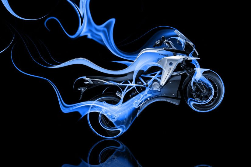 ... Moto-Rapitan-Side-Blue-Fire-Abstract-Bike-2014- ...