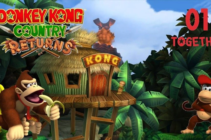 #01: Lasst die Affen ausm Zoo | DONKEY KONG COUNTRY RETURNS [Let's Play  Together]