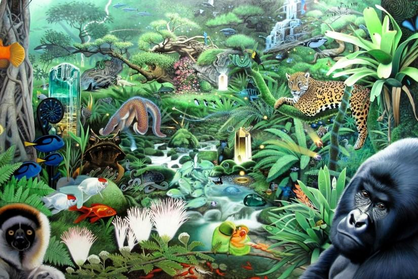 jungle background 2048x1137 for tablet