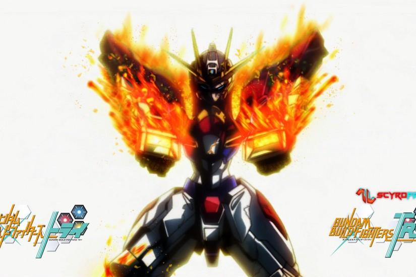 Gundam Build Burning Wallpaper by ScyroFan