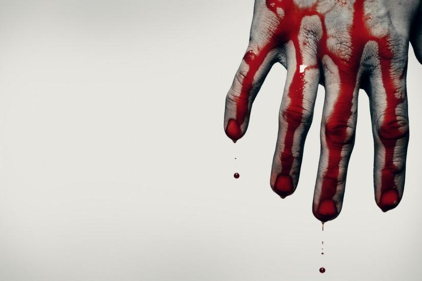 2560x1600 Wallpaper hand, blood, brush, scary