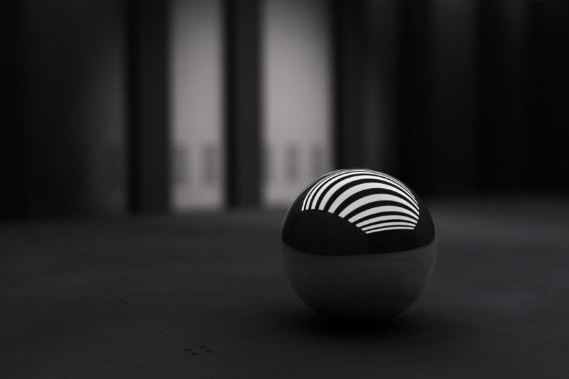 Preview wallpaper black, ball, band, white 1920x1080