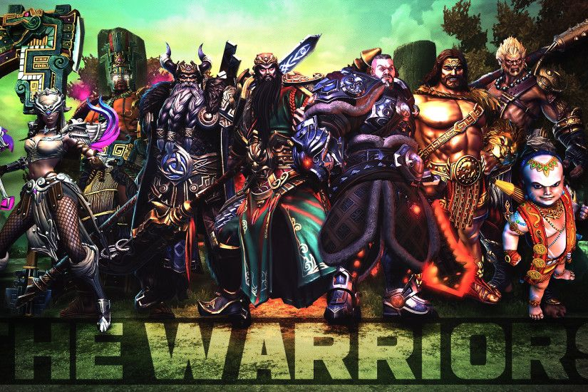 ... SMITE - The Warriors (Wallpaper HD) by Getsukeii