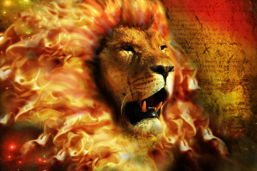 Fire Lion Wallpapers ...