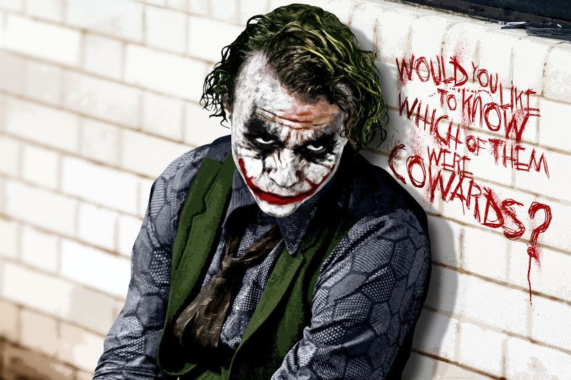 Batman Green Heath Ledger The Dark Knight Joker