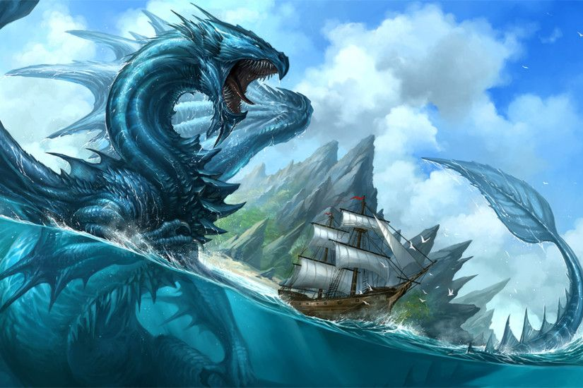 Dragons, Water Dragon, The monster in the ocean.