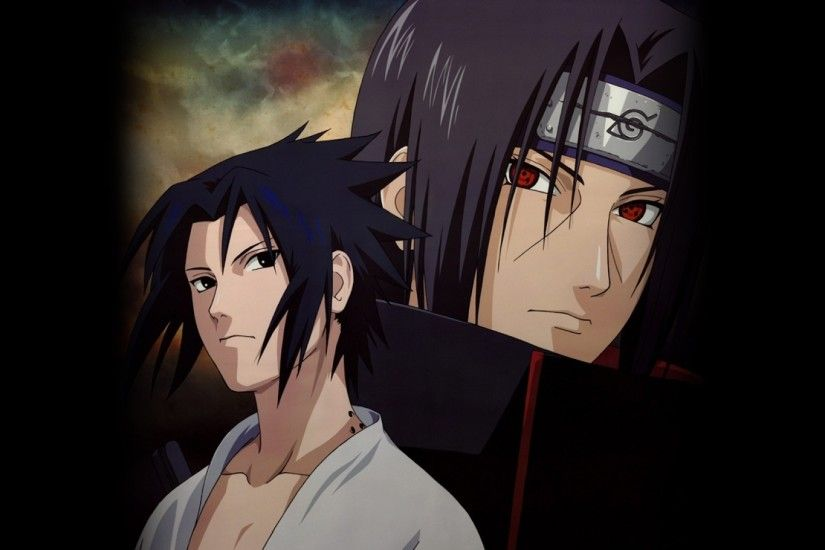 Preview wallpaper uchiha itachi, chiha sasuke, guys, look, confidence,  posture 1920x1080