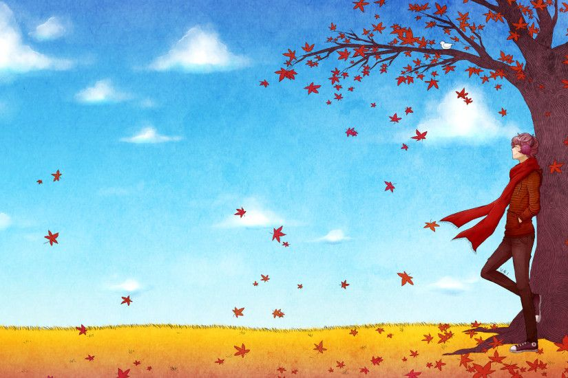 ... V4.1colour Desktop Background - Fall Theme by shyhl3