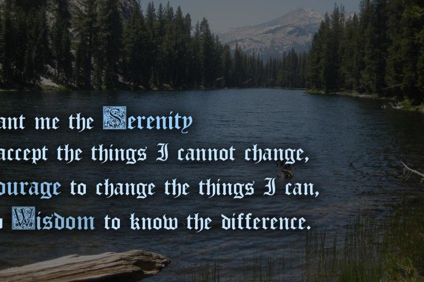 Serenity Prayer Backgrounds - Wallpaper Cave