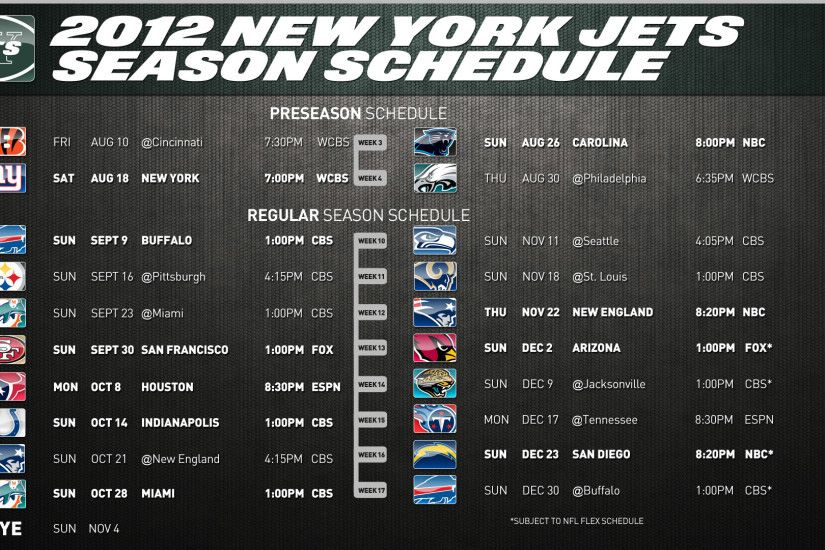 nfl new york jets 2012 regular season schedule