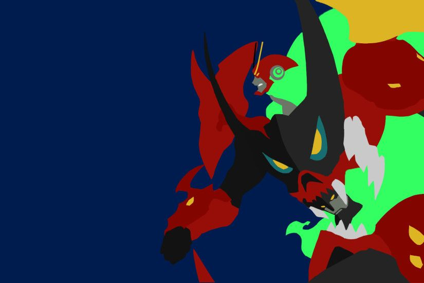 I tried my hand at a minimalist Tengen Toppa Gurren Lagann, what do you  guys think?