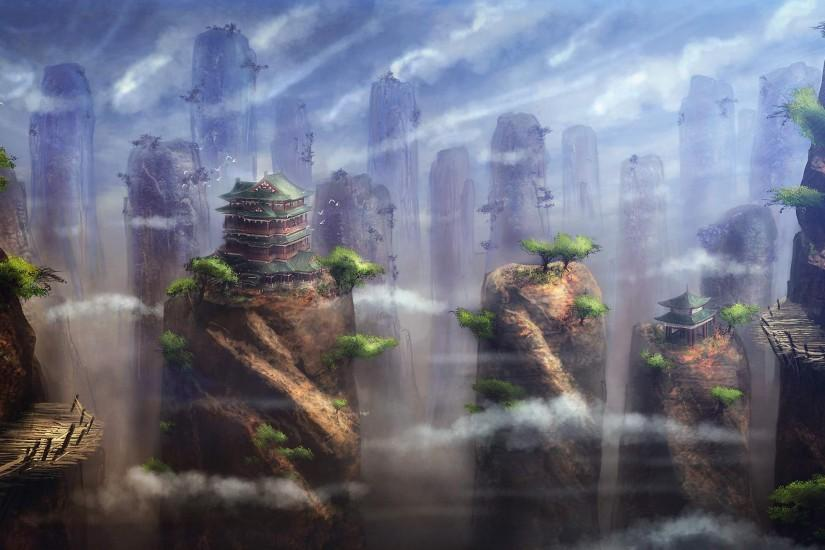 fantasy landscape wallpaper 2560x1440 ipad retina