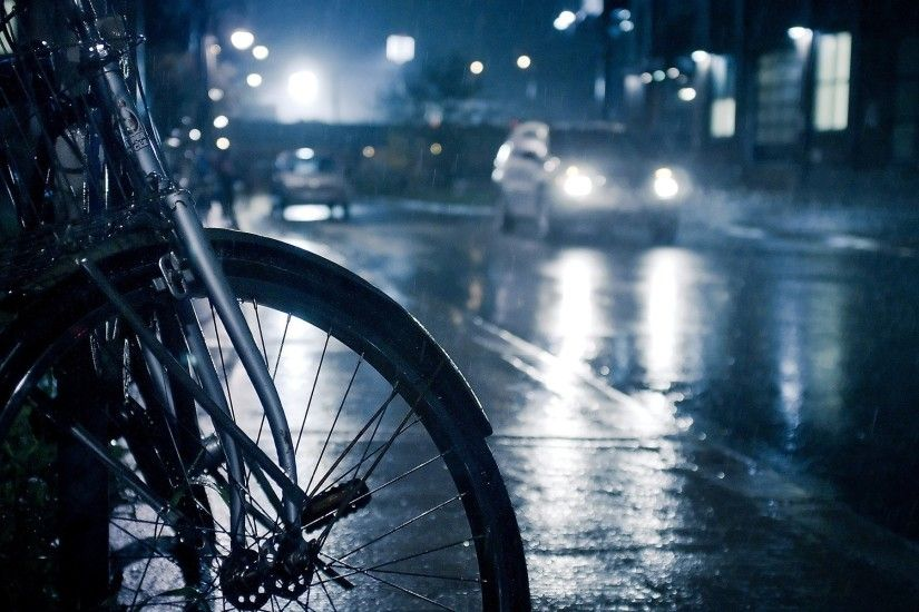 Rainy Day And Bicycle Wallpaper HD Wallpaper | WallpaperLepi