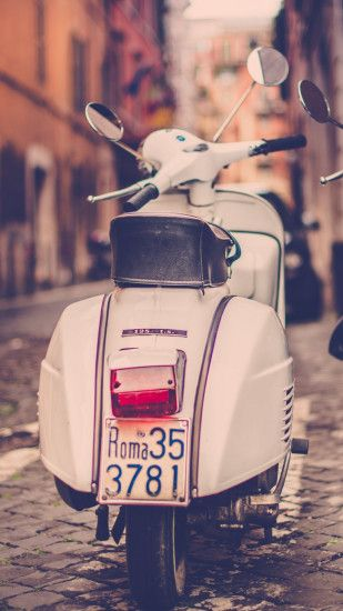 1440x2560 Wallpaper scooter, piaggio, street, road, rome, italy