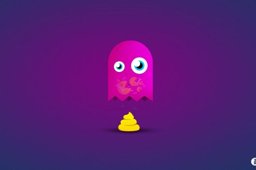 Video games funny ghosts Game Over Pac-Man poop blue background wallpaper |  1920x1200 | 213502 | WallpaperUP
