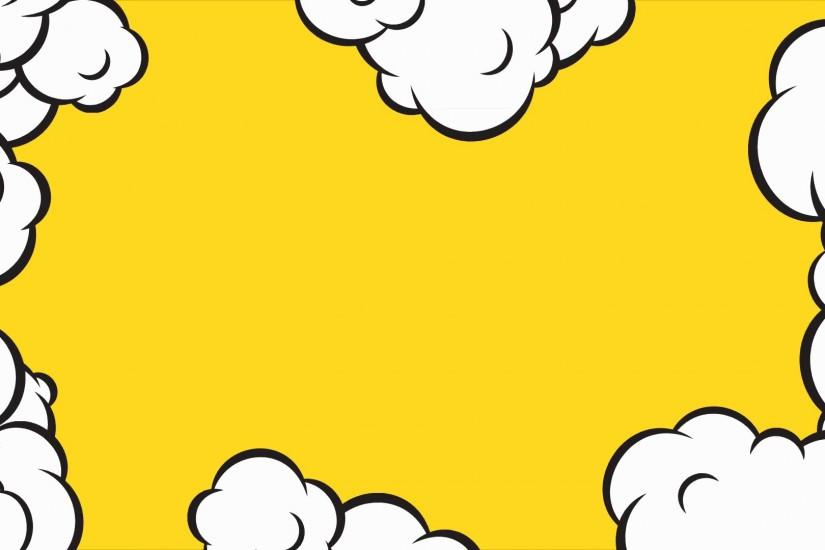 Cartoon pop art clouds animation frame. HD motion design on yellow  background. Stock Video Footage - VideoBlocks