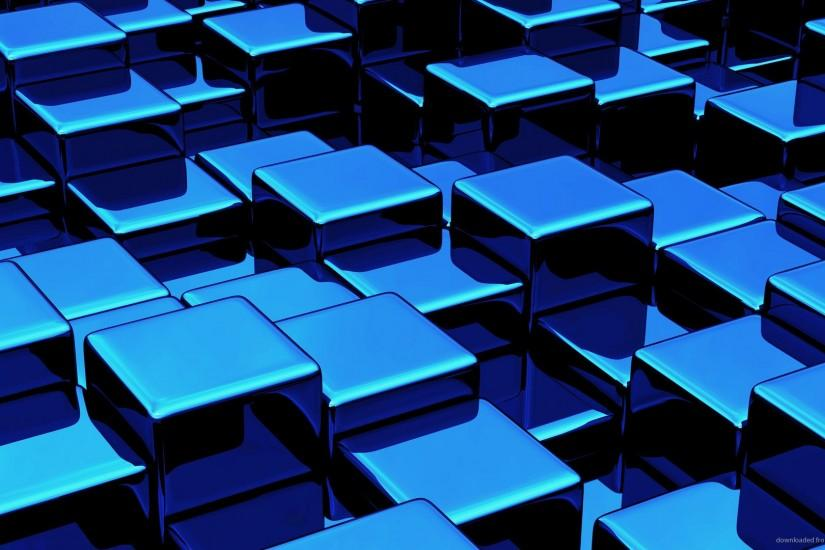 1280x720 Blue 3D Cubes Wallpaper Background wallpaper