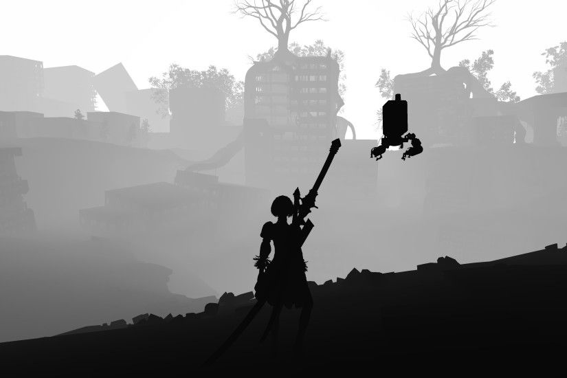 Video Game - NieR: Automata Black & White Wallpaper