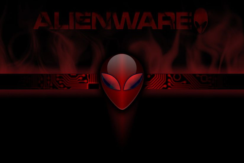 Red Alienware Wallpaper HD .