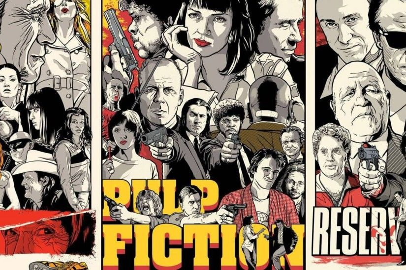 2560x1080 Wallpaper quentin tarantino, pulp fiction, kill bill, reservoir  dogs