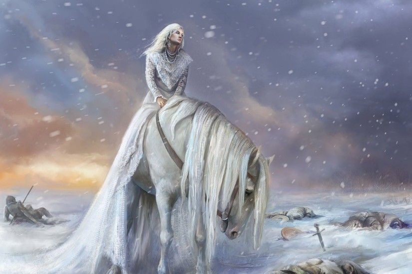 Delicieux Princess On The White Horse HD Wallpaper 1920x1200